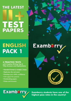 Practice English exam papers at 11+ level with answers
