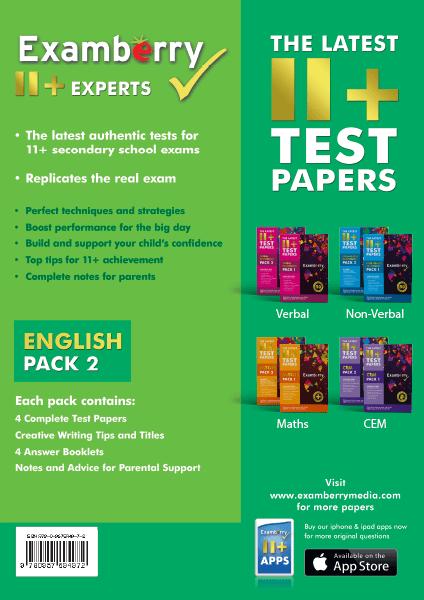 ENGLISH 2021 Pack 2 Back 1