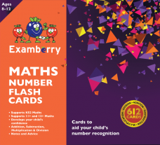 11 plus and KS2 Maths Number Flashcards to improve mathematics skills