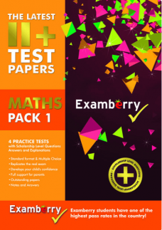 11 plus maths practice papers and answers in physical format
