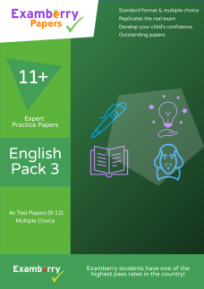 Examberry Papers 11 plus english practice papers pack 3 physical cover image