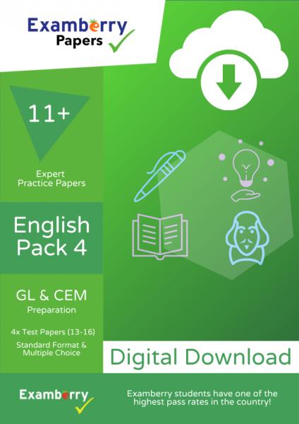 English 11+ mock exam papers PDF download