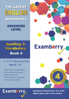 English spelling and vocabulary for 11+ and 13+ exam preparation to boost exam results