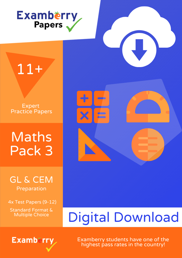 High quality 11+ Maths papers with answers and explanations