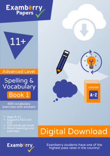 11 plus spelling and vocabulary advanced level book 1 PDF download cover