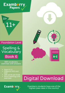 10 plus and 11 plus spelling and vocabulary foundation level book 6 PDF download cover