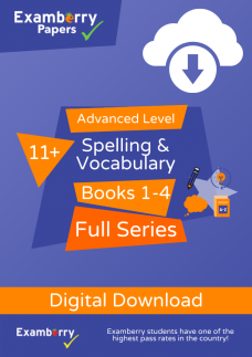 11 plus spelling and vocabulary advanced level full series PDF download cover