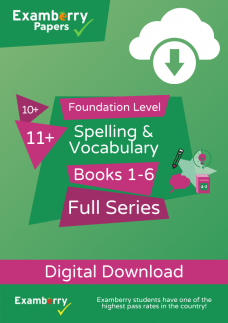 10 plus and 11 plus spelling and vocabulary foundation level full series PDF download cover