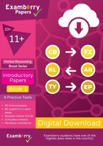 11 plus verbal reasoning boost PDF download introductory practice papers book 1