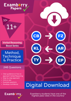 11 plus verbal reasoning boost method technique and practice cover image